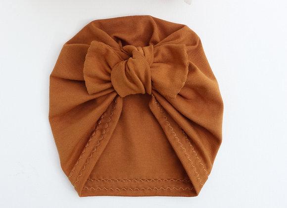 Dark Mustard Turban (Bow Removable)
