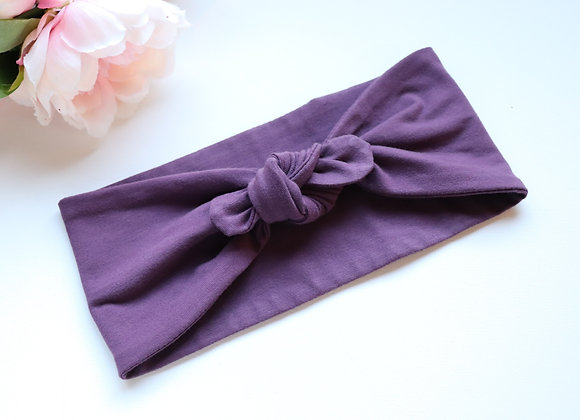 Purple Bow/knotted Wide Head Ties