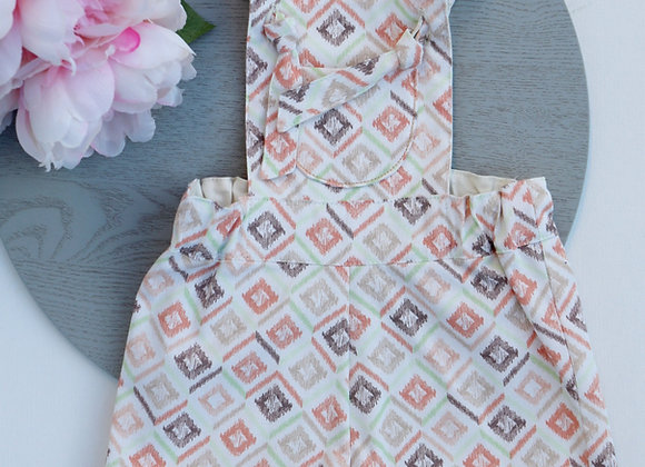 3-6 Months Square Shapes Overalls