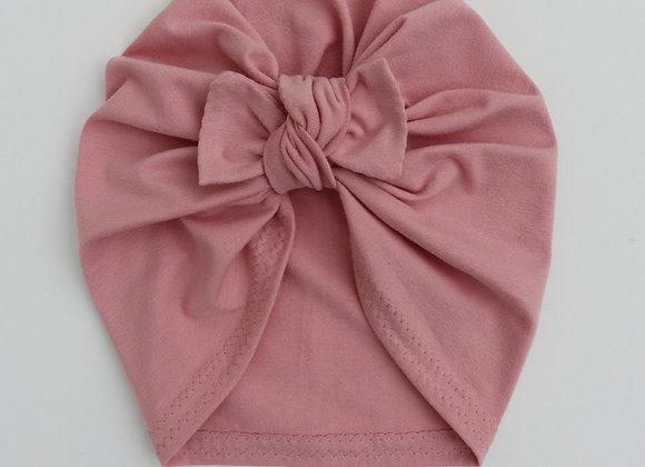 Blush Turban (Bow Removable)