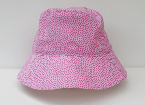 0-3 Months Pink Spots Hat (Reversible to Colourful Giraffes)