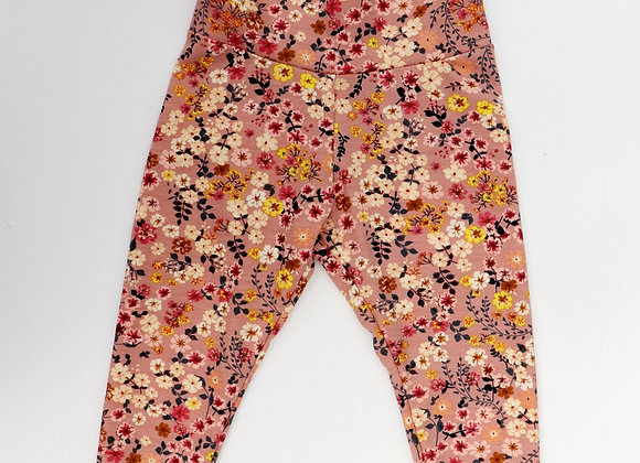 Vintage Pink Flower Leggings
