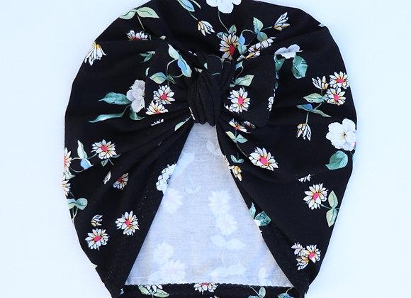 Black & Daisy's Turban (Bow Removable)