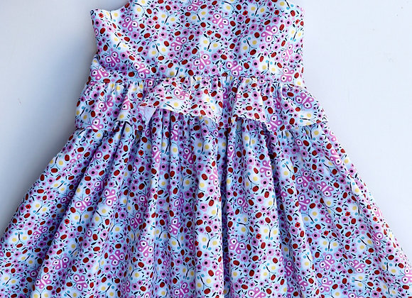 4 Yrs Lady Bug & Butterfly Frilled Flared Dress