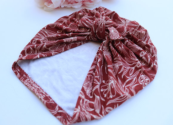 Bamboo Terracotta Turban (Bow Removable)
