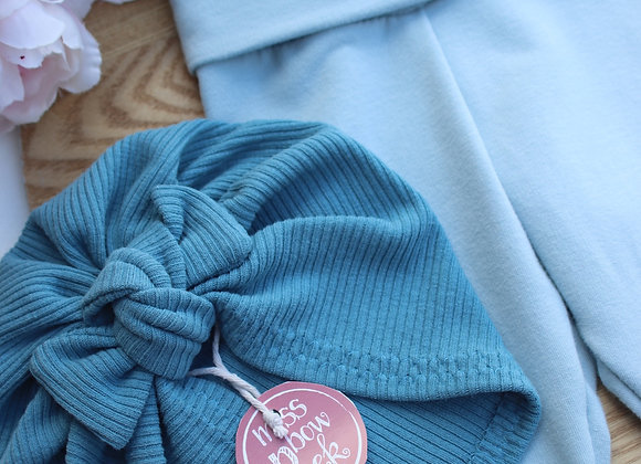 3-6 Months Leggings/Turban and Headtie Set
