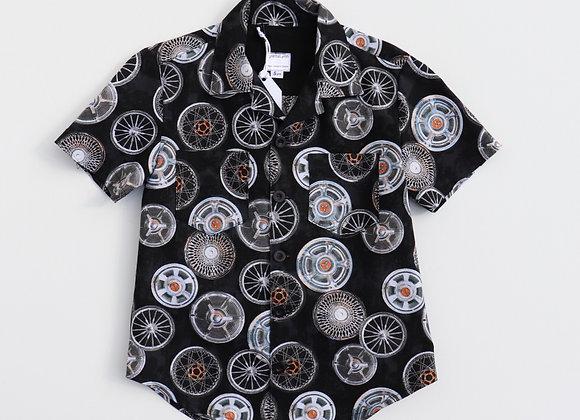 5 Yrs Wheels Print Shirt