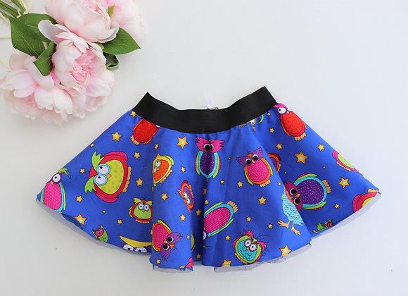 Colourful Owls Skirt