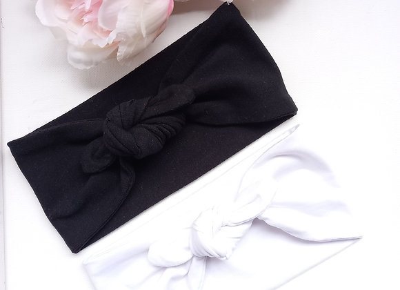 Baby Bow/knotted Wide Head Ties