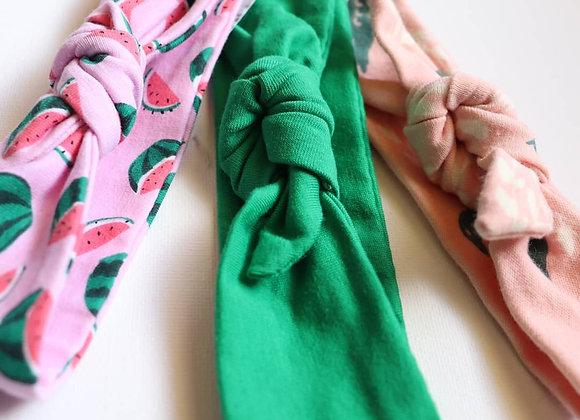 Watermelon Newborn Head Tie sets