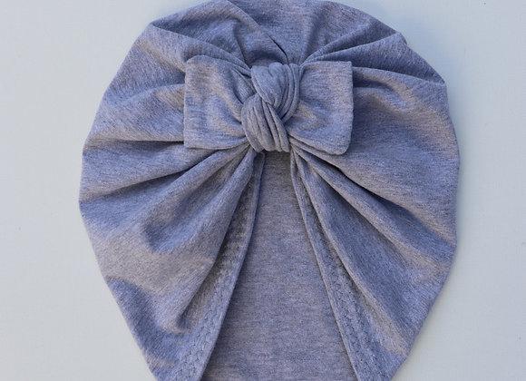 Light Grey Turban (Bow Removable)