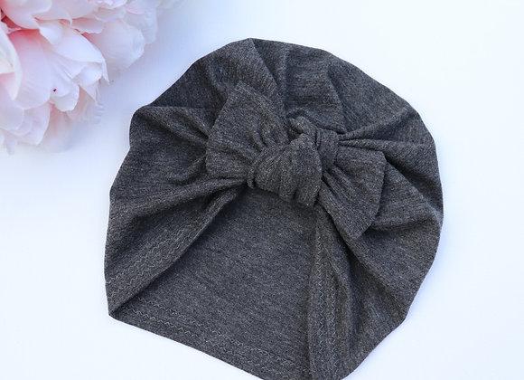 Metal Grey Turban (Removable Bow)