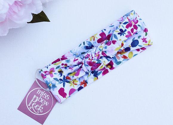 Bright Flowers (Organic Cotton) Head Ties