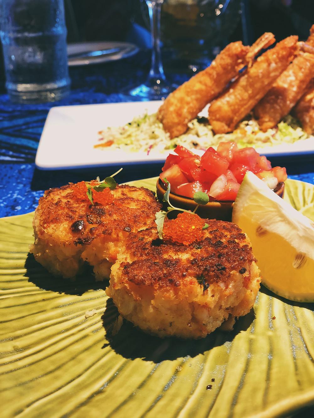 Crab Cakes & Shrimp Wontons