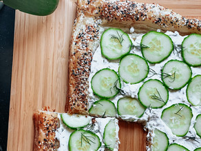 Everything Bagel Cucumber Pastry