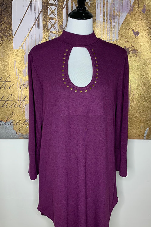 Plum key Hole Tunic