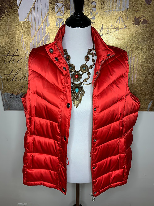 Fire Engine Red Puffer Vest