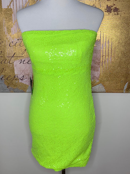 Sequence Lime Mini Dress