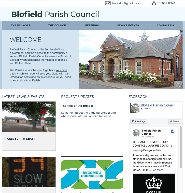 Blofield Website