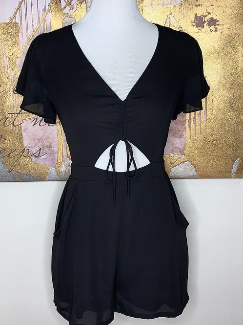 Cut out short sleeve Romper