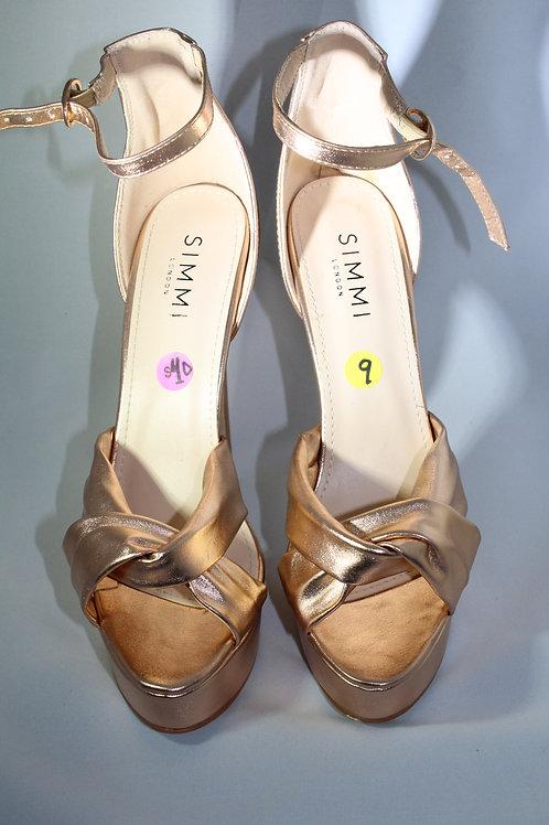 Rose Gold Knotted Platform Sandal