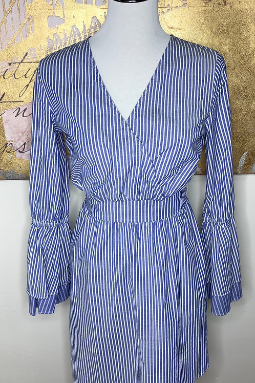 Nautical wrap dress