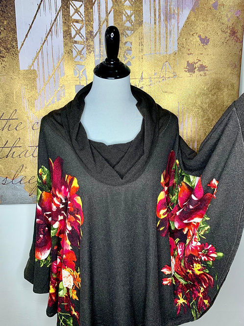 Cowl Neck Floral Tunic