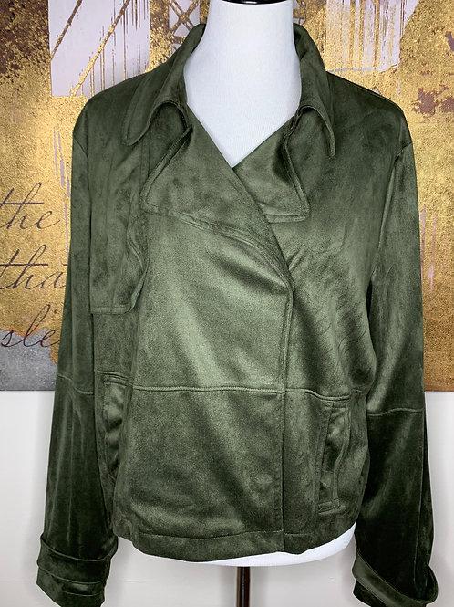 Olive Faux Sweade Jacket