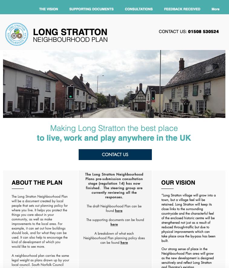 Long Stratton Neighbourhood Plan Website