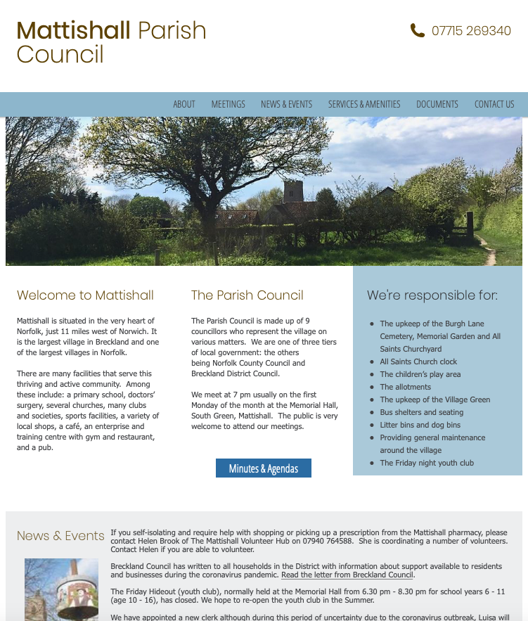 Mattishall Website