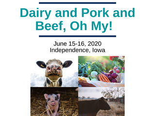 """Dairy and Pork and Beef, Oh My!"" is now open for Registration."
