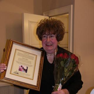 cherie with award.JPG