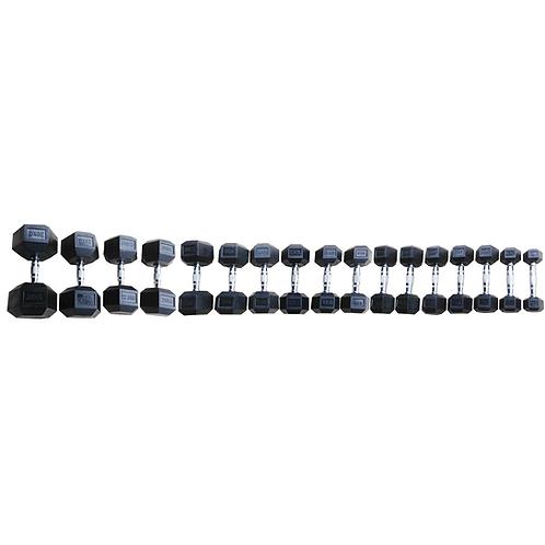 Manubrio Esagonale gommato Toorx MEG da 1 kg a 50 Kg