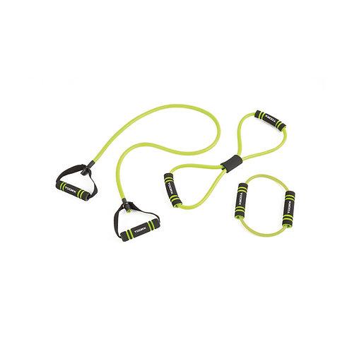 Set attrezzi elastici 3 livelli di resistenza Toorx