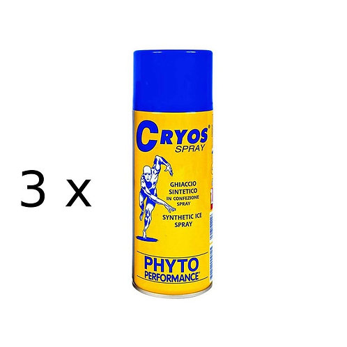 Ghiaccio spray Cryos Ice Spray 400 ml 3 pezzi Phyto Performance P200.2