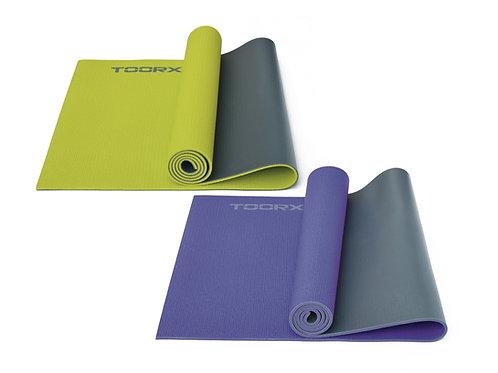 Materassino per Yoga bicolore con superficie antiscivolo Toorx
