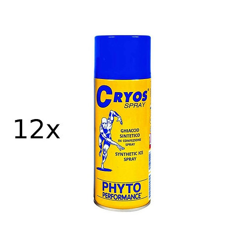 Ghiaccio spray Cryos Ice Spray 400 ml 12 pezzi Phyto Performance P200.2