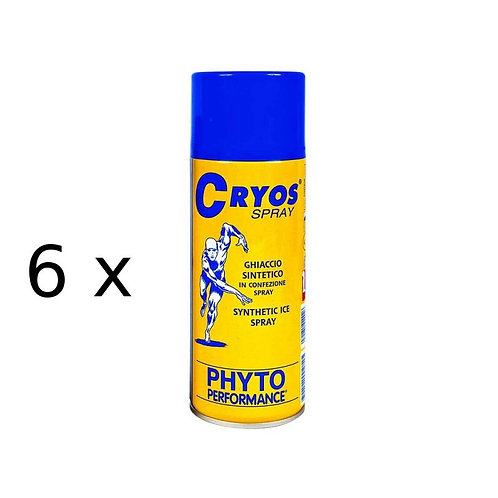 Ghiaccio spray Cryos Ice Spray 400 ml 6 pezzi Phyto Performance P200.2