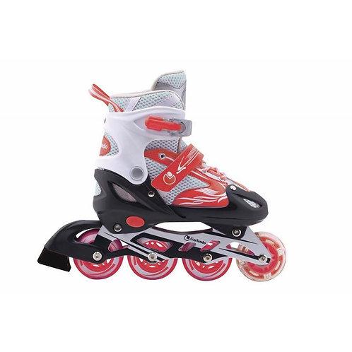 Pattini in linea allungabile Firewheel rosso