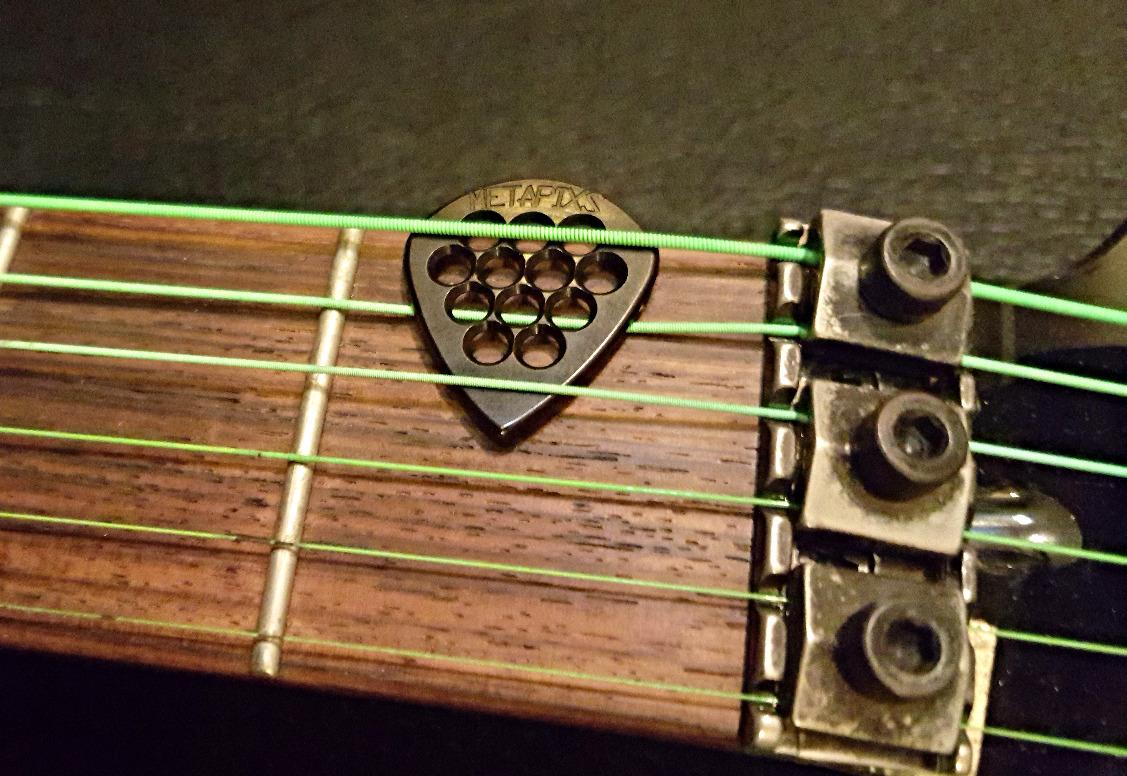 black guitar pick
