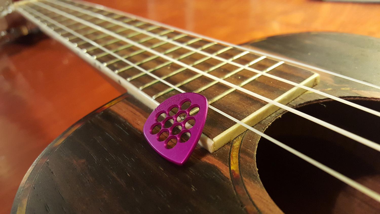 purple guitar pick