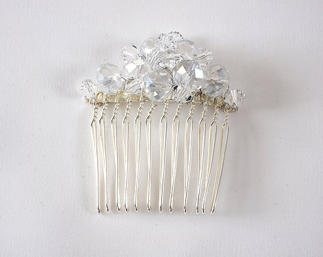 Swarovsky crystalsilver hair comb