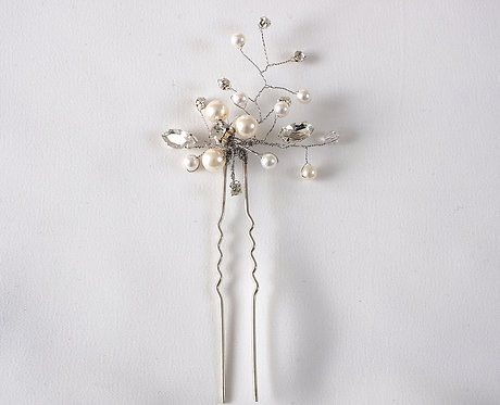 Freshwater pearl, Swarovski and Diamante Hair Pin