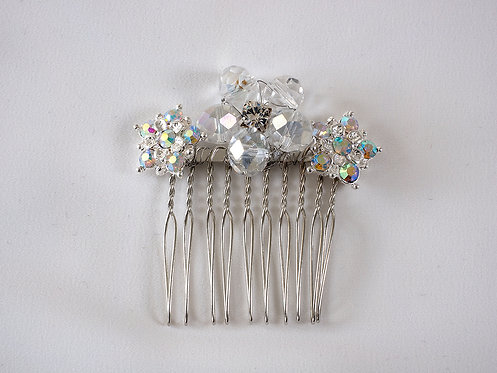 Diamante and crystal flower Hair comb