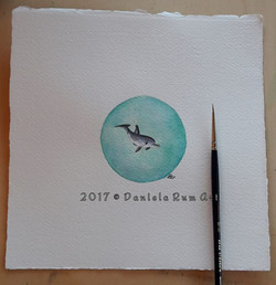 Tiny Art - Watercolor  17x17 cm