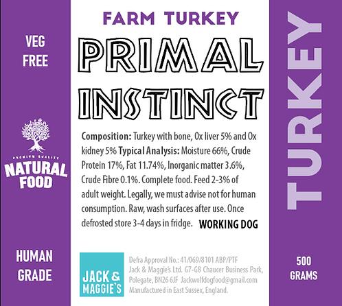 Turkey - Primal Instinct 500g