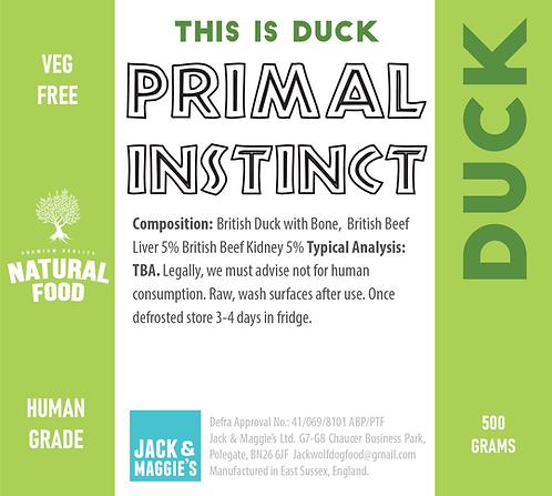 Duck - Primal Instinct 500g