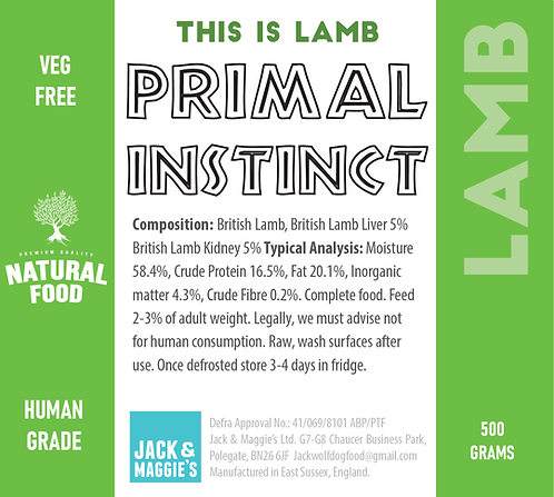 Lamb - Primal Instinct 500g