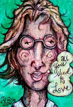 My Dying Muse Lennon All you need is lov