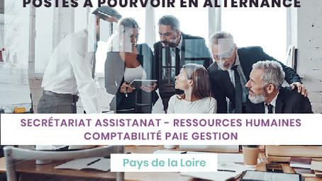 Postes en alternance Tertiaire - Pays de la Loire (44-49-53-72-85)